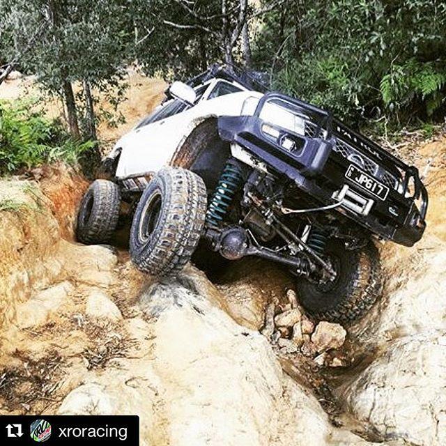 Dobinsons coils on this beast Patrol! @xroracing  #glasshouse4x4 #xrocrew #xrosliders #xrohardass #xrohardasscrew #xro4x4fab #nissanpatrol #gupatrol #xropatrol #xro #offroadworld #instanissanpatrol