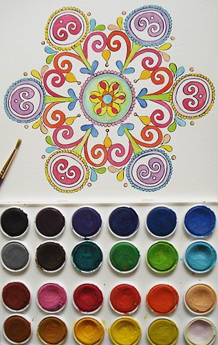 Mandala Coloring Pages: A Printable E-Book Featuring 23 Hand-Drawn Mandalas to Color