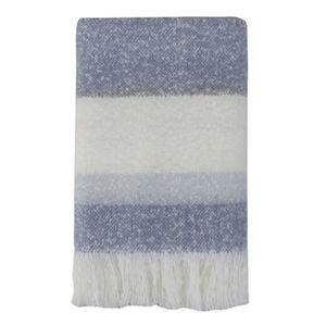 LINENS & MORE Cosy Stripe Throw 130X170cm Blue