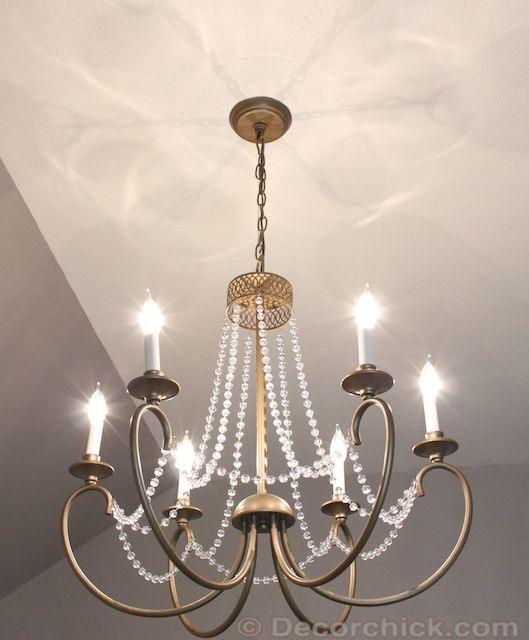 Gold Chandelier: Home Depot $169