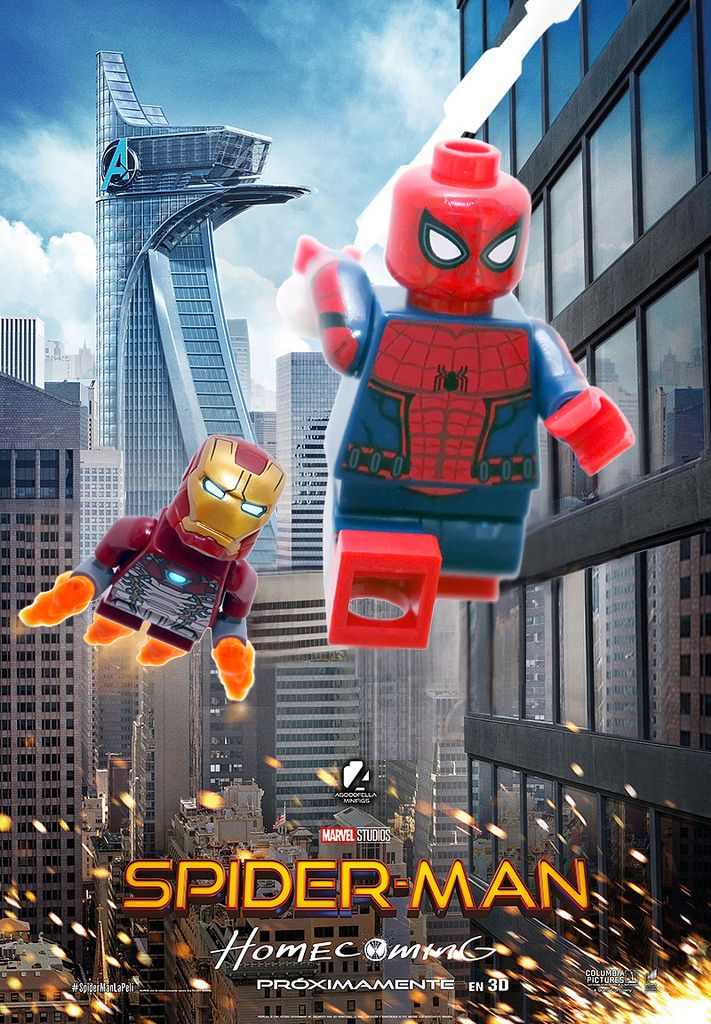 Spider Man Homecoming Mcu Marvel Lego Spiderman Lego Poster Lego Marvel S Avengers