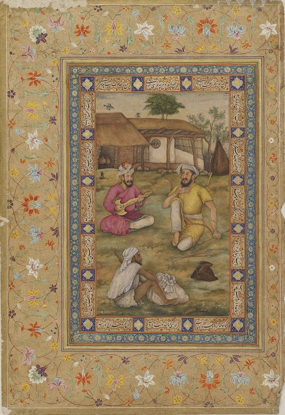 Bowman, musician and dervish from the Kevorkian album.         Mughal dynasty, Reign of Jahangir, 19th century.       Mughal Court,      Mughal School