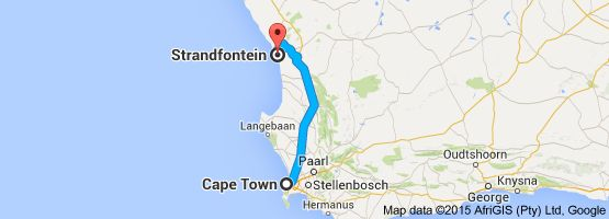 From: Cape Town, South Africa To: Strandfontein, South Africa