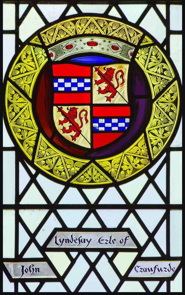 John Lindsay, Earl of Crawford. Stained Glass Window, Great Hall, Stirling Castle.