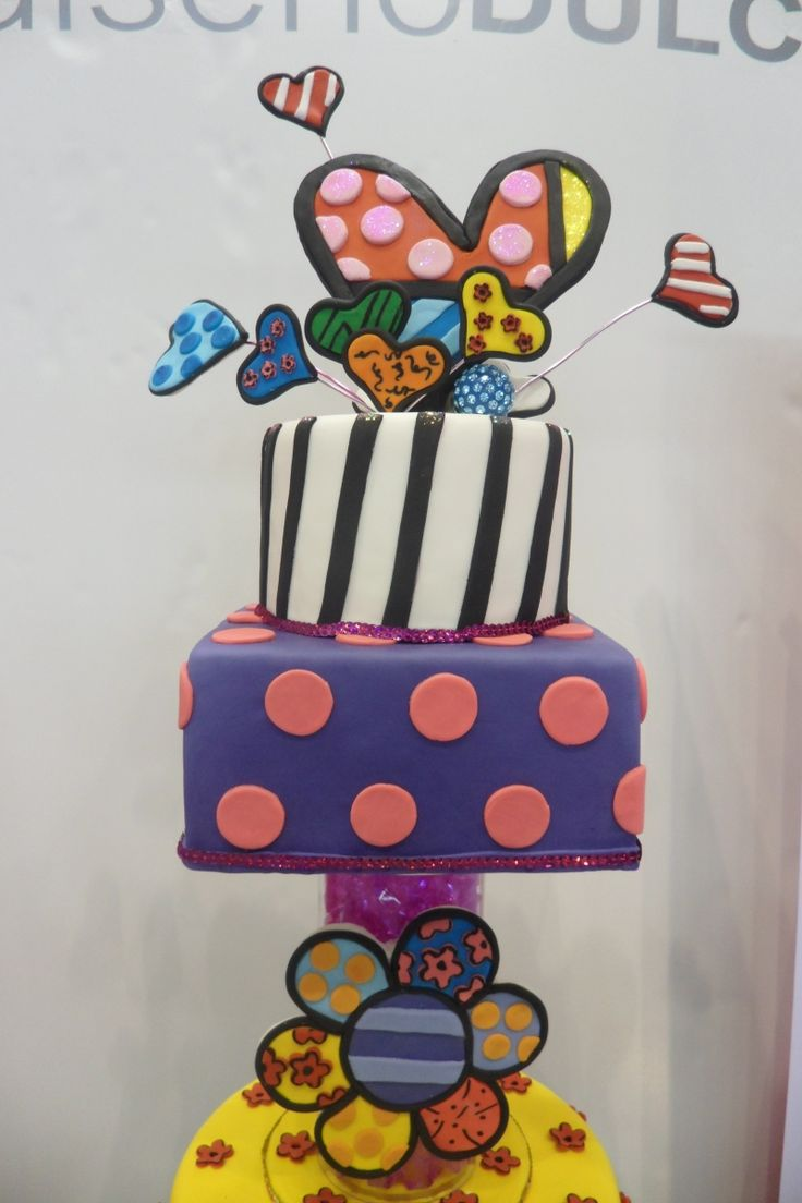 Britto adorable tiered cake