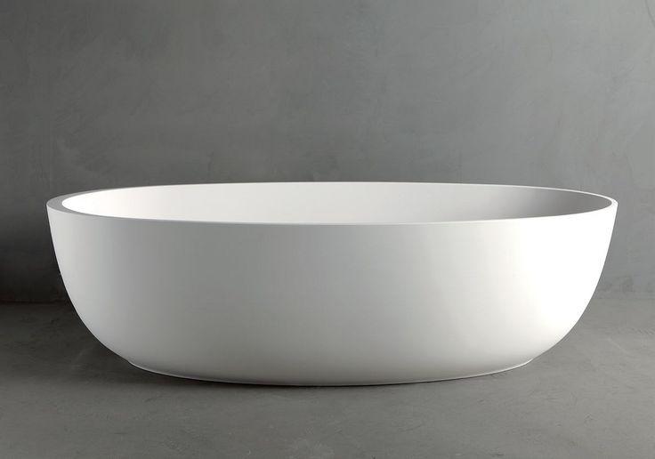 Bañera independiente óvala de Mineralmarmo® ROUND by RIFRA(1.69cm)
