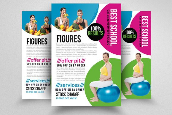 Fitness Body Shape Program Flyers by Business Flyers on @creativemarket