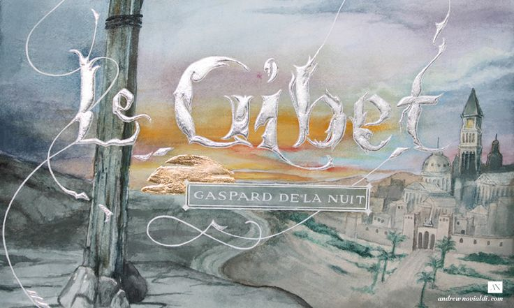 Gaspard de la Nuit Watercolor Illustration - Le Gibet