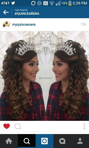 Quinceanera Hairstyles For Long Hair With Tiara : ... Hairstyles on Pinterest Hairstyles, Sweet 16 hairstyles and Side