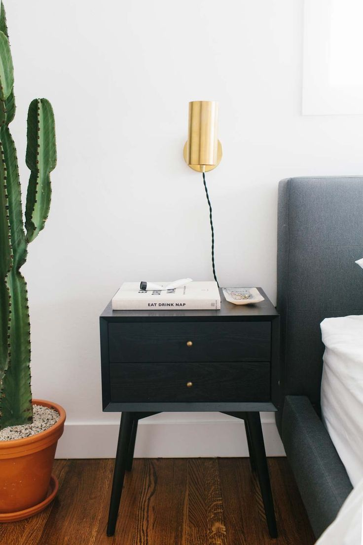 Modern black side table - Simplistic Mid Century Style Black Bedroom Side Table Discover More Coffeeandsidetables Com