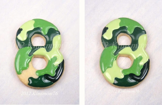 Susan of Kimsmom76 guide to doing camo coloured cookies