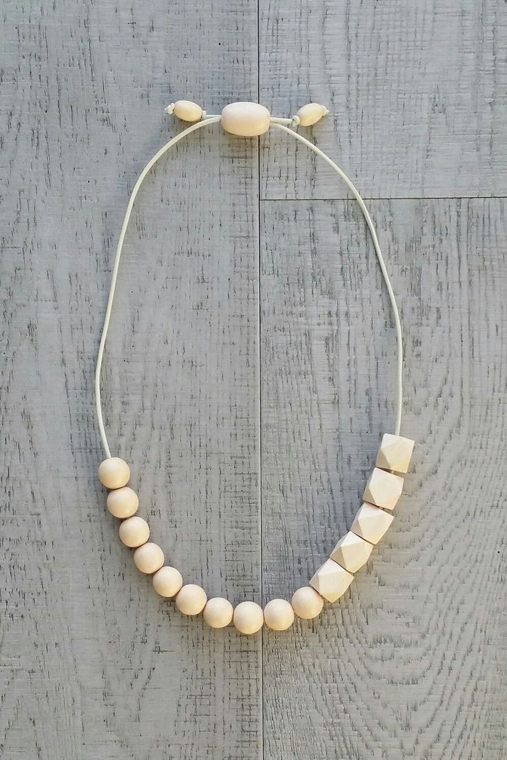 BIRTHDAY SUIT | Nude Beige Affirmama Necklace