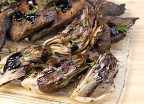 Grilled Portobello and Radicchio Salad Grilling takes the bitter edge ...