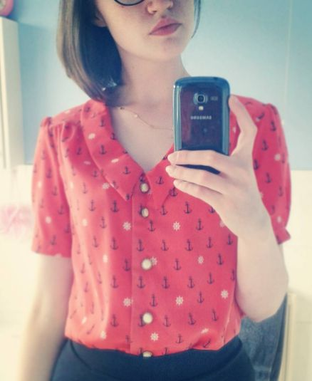 Miss Holland's Mimi blouse - sewing pattern in Love at First Stitch