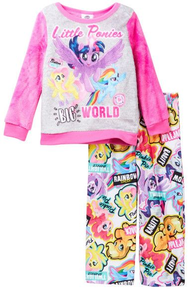 AME My Little Pony Little Ponies Big World Luxe Plush Pajama Set (Little Girls & Big Girls)