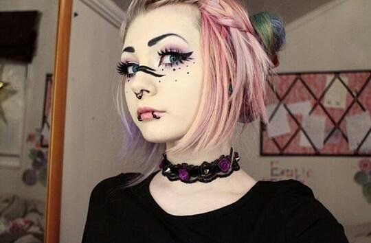 """Pastel goth. 7,129 Likes, 81 Comments - 23k+ CutePuddins♡ (@scemo_puddins) on Instagram: """"// Are you happy? _ _ //Puddin: @exoticcandyfloss _ _ // Everyone is beautiful ♡ _ _ _…"""""""