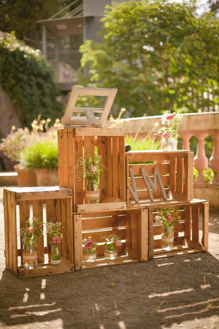 cajas de madera para decorar tu boda wedding decoracion inspiracion