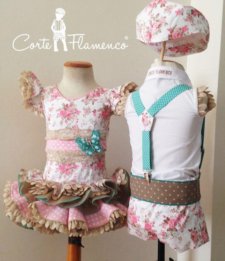 traje de flamenca a juego niño y niña, traje de flamenco, vestido de flamenca, traje de gitano, vestido de gitana, comprar online, corte flamenco, comprar en almeria