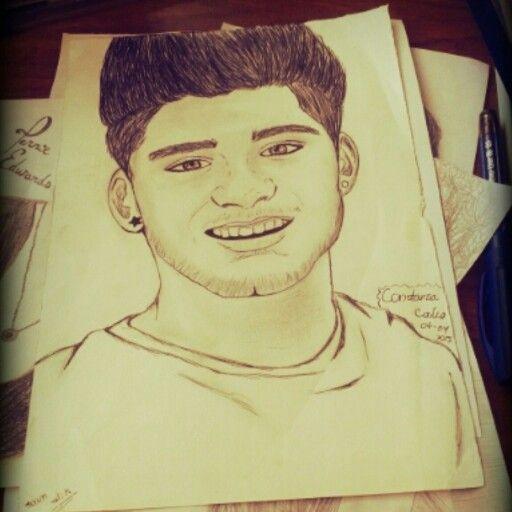 Dibujo de Zayn Malik de One Direction hecho por mi. #OneDirectionDrawing