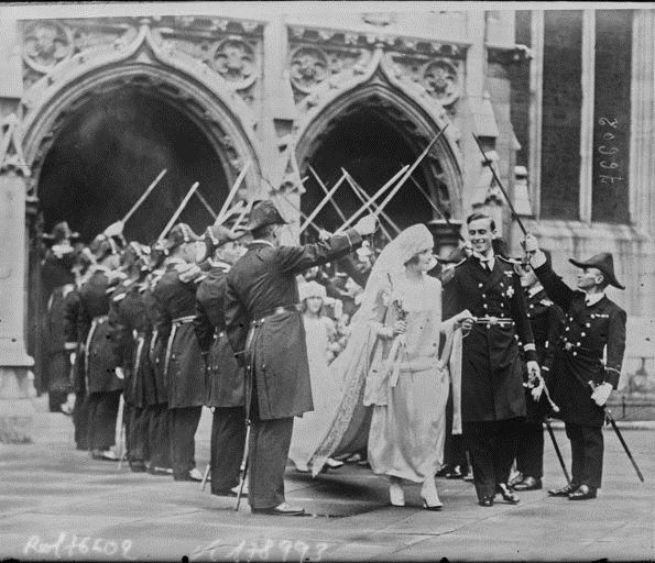 Wedding of Lord Louis Mountbatten and Ms. Ashley by Agence Rol, 1922. National Library of France, Public Domain
