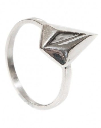 Meadowlark Faceted Stacker Ring