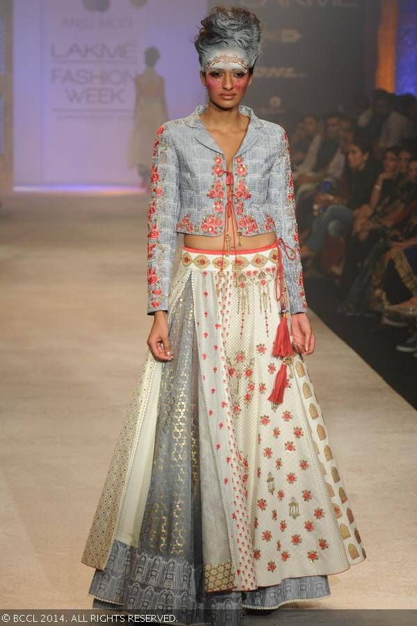 Anju Modi on Day 5 of the Lakme Fashion Week (LFW) Summer Resort 2014,