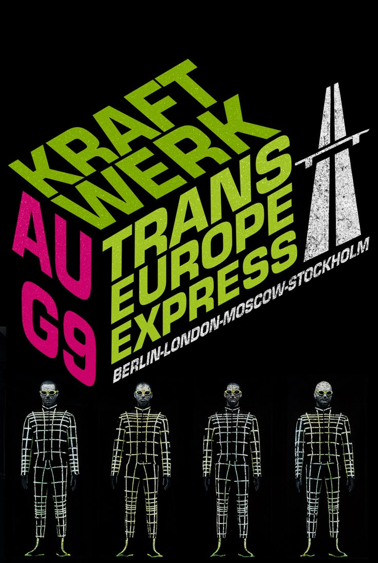 Kraftwerk's lyrics deal with post-war European urban life and technology—traveling by car on the Autobahn, traveling by train, using home computers, and the like. Usually, the lyrics are very minimal but reveal both an innocent celebration of, and a knowing caution about, the modern world. Many of Kraftwerk's songs express the paradoxical nature of modern urban life—a strong sense of alienation existing side-by-side with a celebration of the joys of modern technology