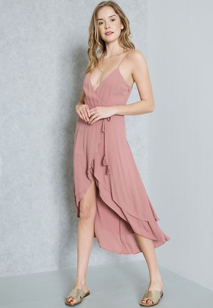 Forever  21 purple Plunge Neck Dress 189080 for Women Online Shopping in Dubai, Abu Dhabi, UAE - ✓ Free Next-Day Delivery ✓ 14-day Exchange, ✓ Pay Cash
