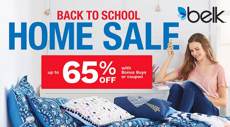 Online Only! Back To School Home Sale! Up to 65% #Off.  Store : #Belk Scope: Entire Store Ends On : 07/10/2017  Get more deals: http://www.geoqpons.com/Banana-Republic-Factory-Store-coupon-codes  Get our Android mobile App: https://play.google.com/store/apps/details?id=com.mm.views    Get our iOS mobile App: https://itunes.apple.com/us/app/geoqpons-local-coupons-discounts/id397729759?mt=8