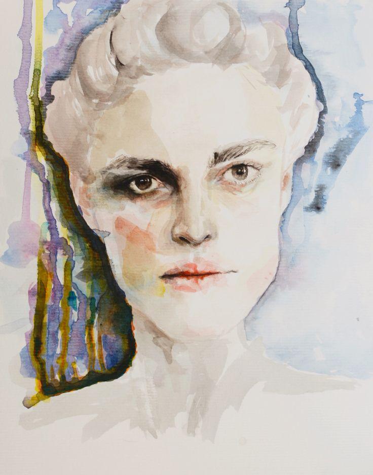 #watercolor #portrait #painting #art