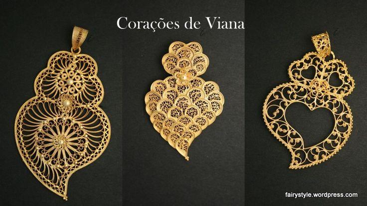 """O """"coração de Viana"""" é a peça representativa da tradição de ourivesaria Vianense, trabalhada em filigrana, Portugal. tradicional portuguese heart in golden filigram."""