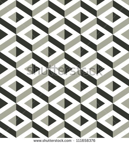 3d shapes seamless pattern, vector background. - stock vector