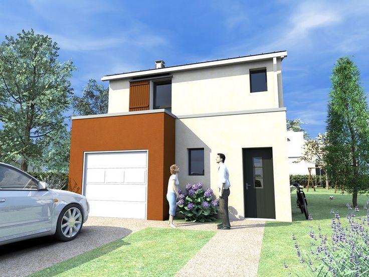 maison gamme les actuelles mod le dorobo vue ext rieure rue maisons gamme les actuelles. Black Bedroom Furniture Sets. Home Design Ideas