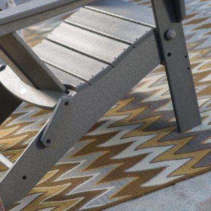 POLYWOOD® Modern Folding Adirondack Chair - Adirondack Chairs at Hayneedle