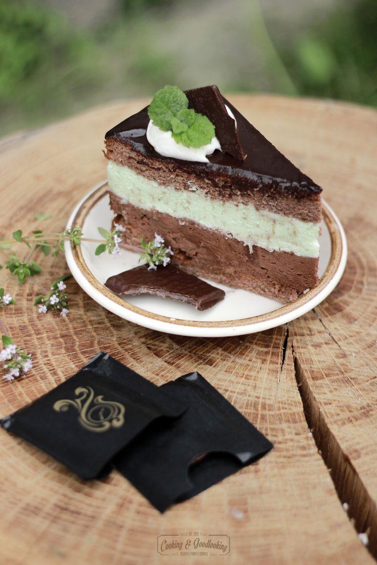 Miętówka- orzeźwiający tort miętowo-czekoladowy/ Refreshing mint&chocolate cake | COOKING & GOODLOOKING