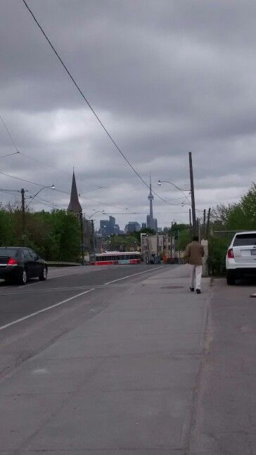 In the distance...