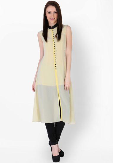 Yellow Solid Kurti - Sugar Her Kurtas & kurtis for women   buy women kurtas and kurtis online in indium