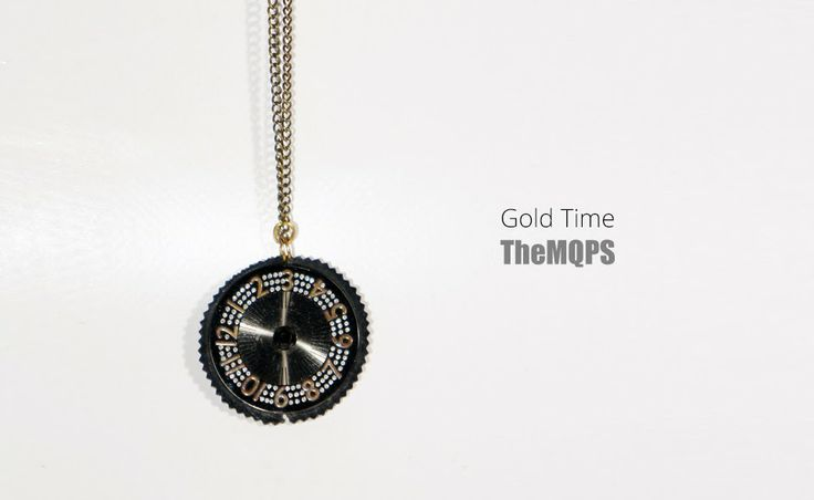 * Gold time * 100% handmade & original jewellery. Naszyjnik. More: themqps.blogspot.com