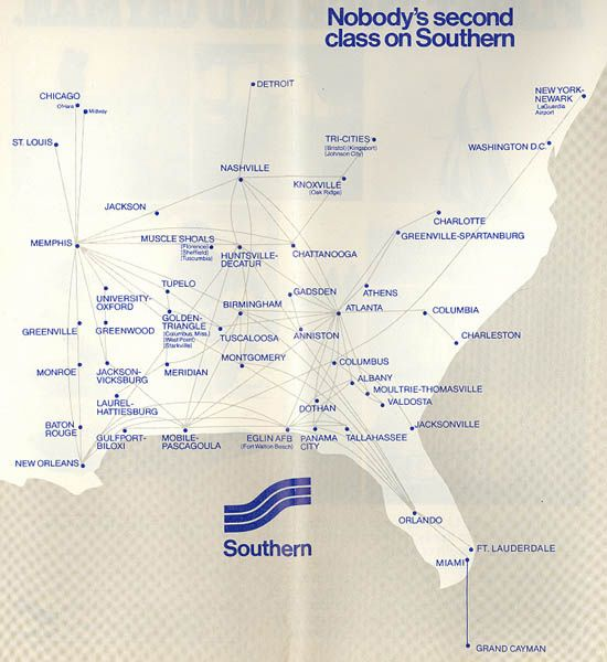 southern airways route map the airline of the deep southmy sister