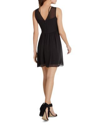 BCBGeneration Cross Front Fit-and-Flare Dress - Black 1