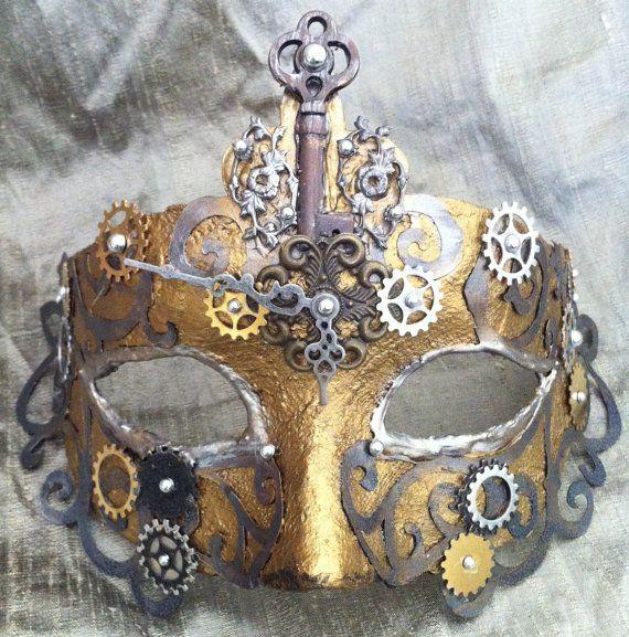Mistress Geard Up    Steampunk Venetian Mask by MaskedEnchantment, $90.00