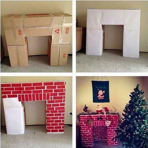 EL MUNDO DEL RECICLAJE: DIY recicla cajas de cartón y hazte una chimenea