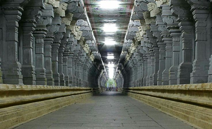 Incredible India !!  • Ramanathaswamy Temple has the longest corridor in the world. Ramanathaswamy Temple is dedicated to The Lord Shiva and is located on Rameswaram island in Tamil nadu