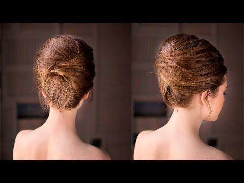 Brigitte Bardot hairstyle Updo French roll - YouTube