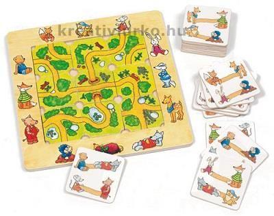 Útkereső logikai társasjáték www.kreativlurko.hu