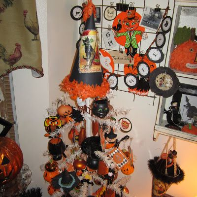 halloween tree halloween treeshalloween craftsvintage halloweendecorating ideassearch
