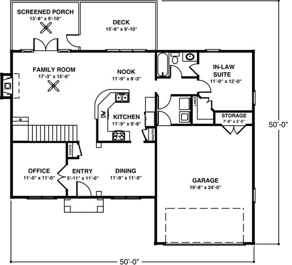 8 best house plans images on pinterest beautiful family for Garage guest house floor plans