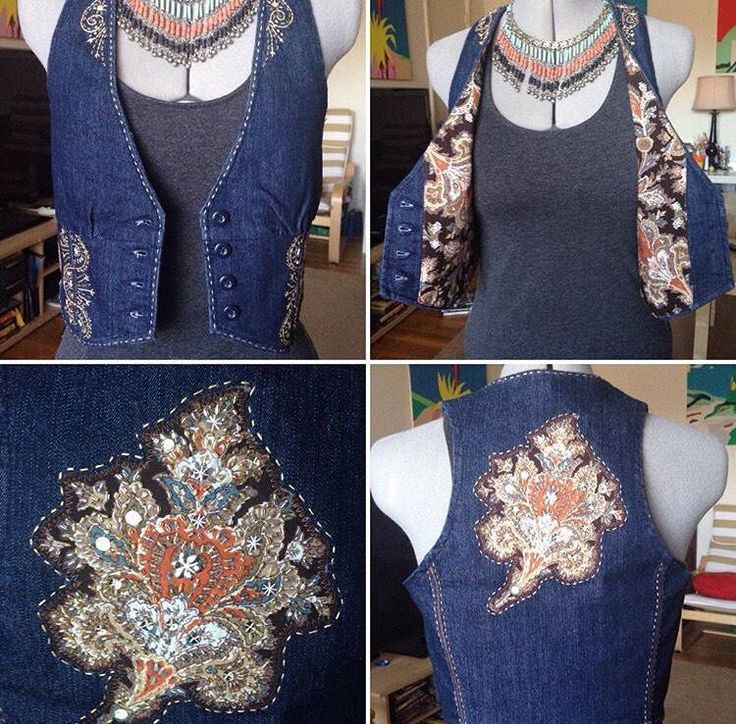 Excited to share the latest addition to my #etsy shop: Vintage hand embroidery hippie, bohemian denim Vest. #clothing #women #jacket #bohemian #vest
