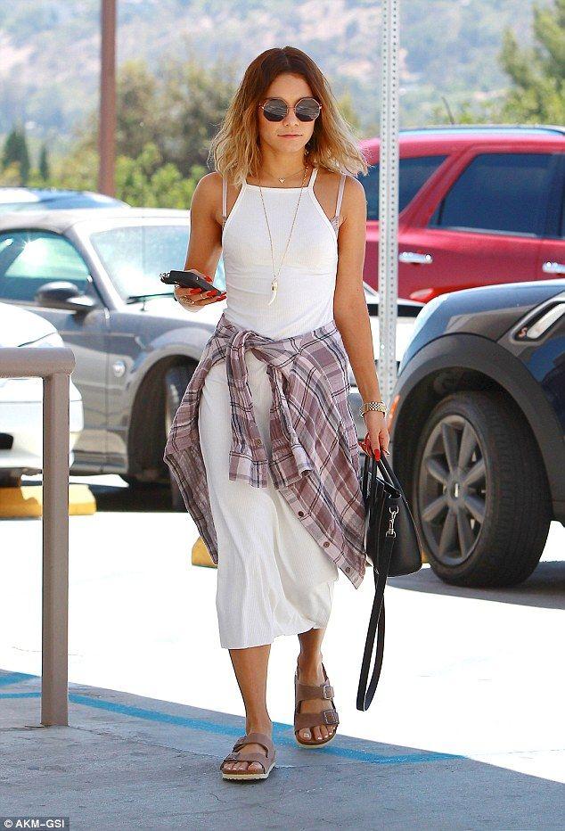 Vanessa Hudgens - Shopping at Macy's in Studio City, California.  (August 2014)