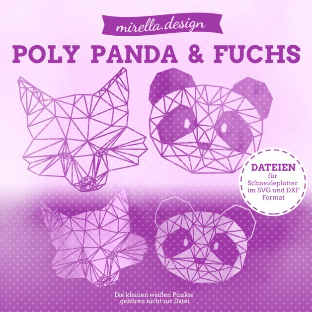Weiteres – Plotterdateien Poly Panda & Fuchs Set – ein Designerstück von mi…